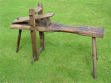 shaving horse bench complete bodging tools and equipment for sale by ted