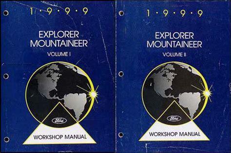 car repair manuals online pdf 1999 mercury mountaineer free book repair manuals 1999 ford explorer mercury mountaineer shop manual set repair service workshop ebay