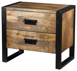 delia table with 2 drawers made of mango wood