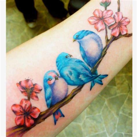 lovely like blossom cute gt p 225 jaros azules flores tatuajes para mujeres