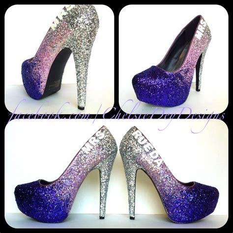 eggplant high heels purple glitter high heels eggplant lilac by chelsiedeydesigns