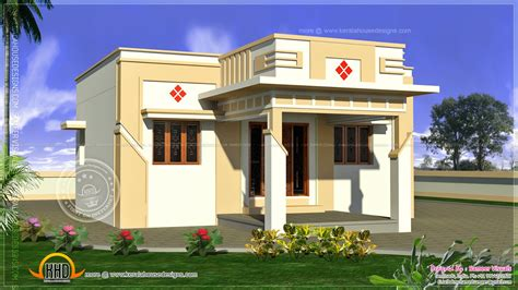 Low cost Tamilnadu house Kerala home design and floor plans