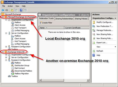 networker management console accessing exchange organizations from one emc