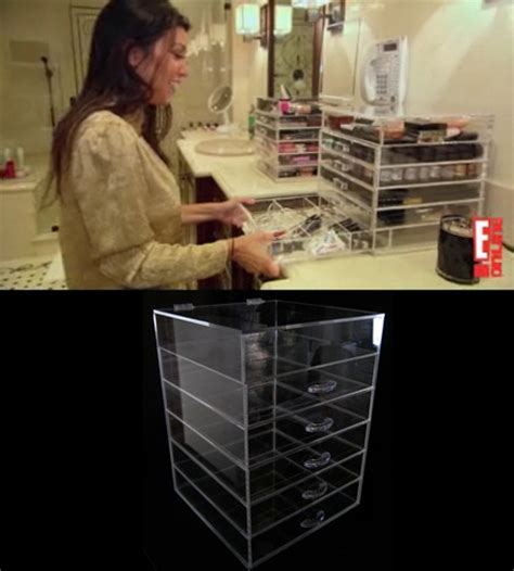 bathroom makeup organizers kim kardashian style get kim kardashian makeup acrylic drawer sets celebrity
