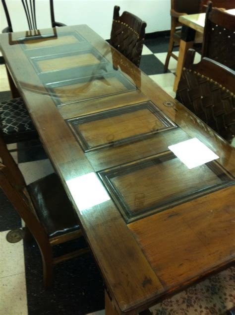 custom antique door table with beveled glass top by ted collier custom designs re purpose