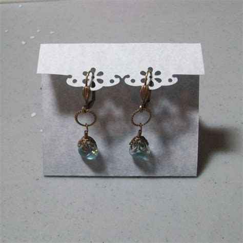 how to make earring cards how to create earring cards using punches the beading