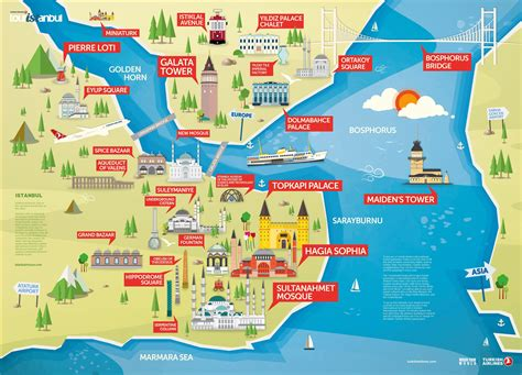 map of tourist attractions tourist maps of istanbul turkey free 2018