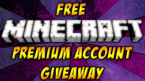 Minecraft Premium Giveaway - free premium minecraft account giveaway youtube