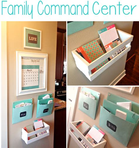 Kitchen Counter Organizer everyday confetti diy family command center
