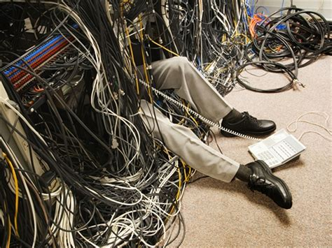 messy wires help a mouse in the server room it in africa
