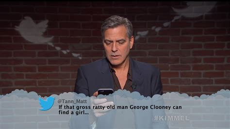 celebrity page today george clooney and other celebrities read mean tweets on