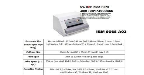 Printer Hp Bandung cv rdv indo print printer buku tabungan ibm wincor