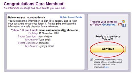 membuat email yahoo via opmin tutorial cara membuat email yahoo dan gmail baru indoza