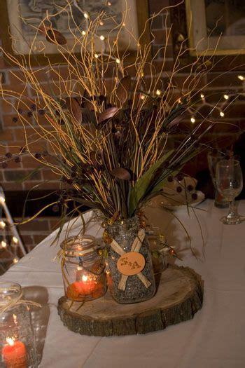 fall centerpiece ideas on a budget rustic fall themed wedding