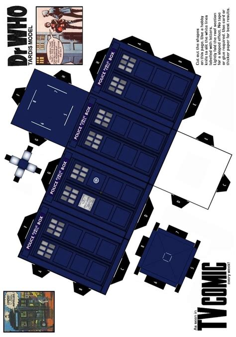 Origami Tardis - 1000 images about paper toys and miniatures on