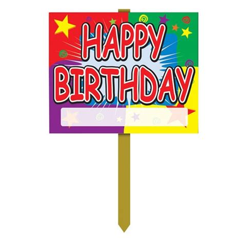 Wooden Decorations For Home by Birthday Yard Sign Partycheap