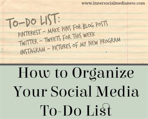 organize media how to organize your social media to do list