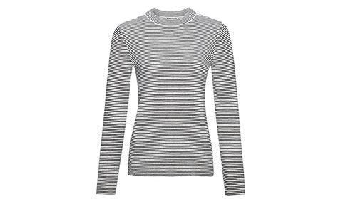 black and white knit stripe slim knit black and white whistles