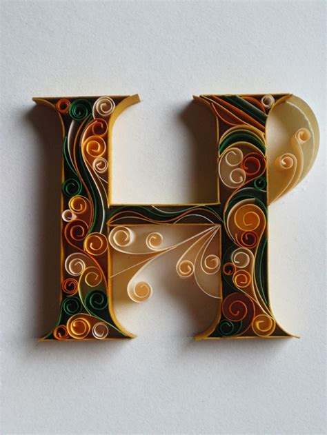 How To Make Paper Quilling Letters - beautifully ornate quilled letters by sabeena karnik ego