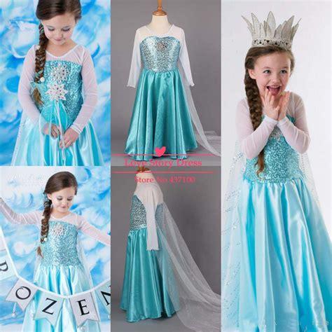 Jaket Anak Cloak Coat aliexpress buy 2014 frozen princess dresses blue