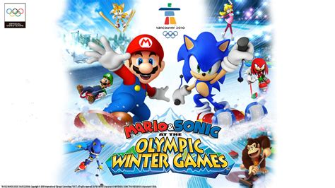 mario  sonic   olympic winter games wallpaper