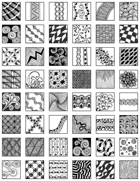 Zentangle Patterns Free Zentangle Grid Design Fill