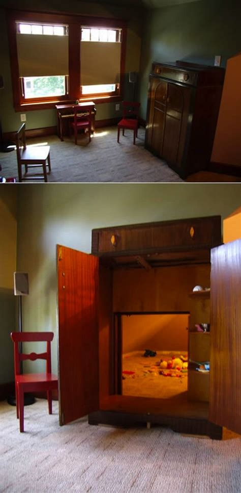 decor spotting secret passageways  hidden rooms