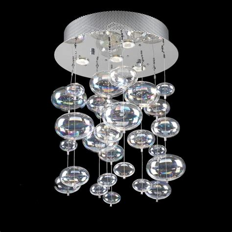 glass chandelier pendant ceiling light with rainbow