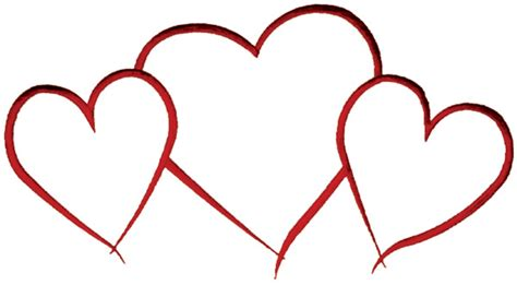 three hearts outline embroidery design annthegran