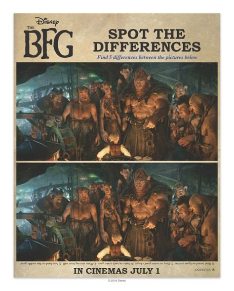spot the difference 2016 1471405672 the bfg activity sheets and coloring pages food crafts and family