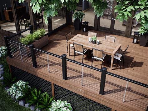 Patio Railing by Decks Deck Railing Ideas
