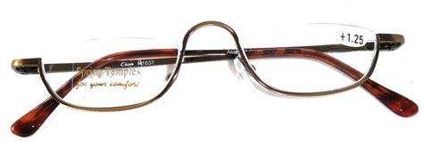 half half frame reading glasses antique silver