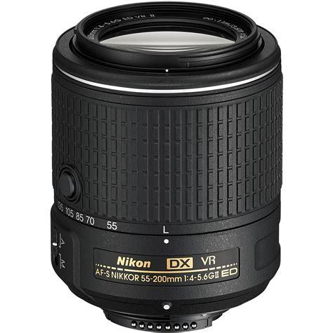 Nikon Af S 55 200mm Vr Ii nikon af s dx nikkor 55 200mm f 4 5 6g ed vr ii lens 20050 b h