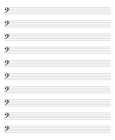 printable sheet music free blank blank sheet music bass clef google search music