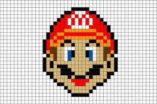 mario pixel template mario pixel brik