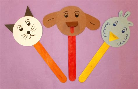 puppet crafts for create a stick puppet of your favorite pet or an origami