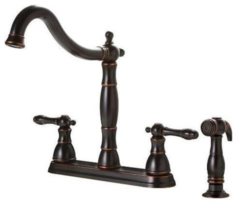 antique bronze kitchen faucet premier rubbed bronze antique style 4 kitchen faucet w side spray traditional