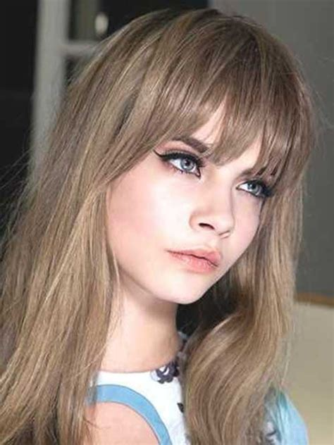 hairstyles with bangs 20 long hairstyles with bangs 2015 2016 hairstyles