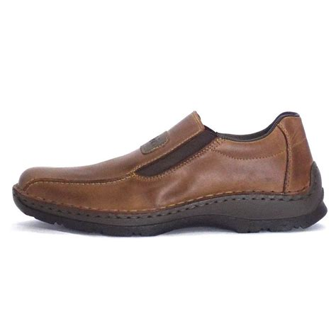 rieker noel 05364 26 mens slip on shoe in brown leather