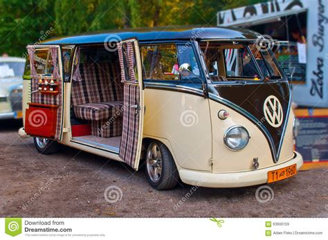 volkswagen old van old and beautifully renovated vw t1 kombi van from 1960