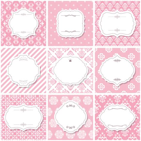 Vector frame with vintage background graphics 03   Vector
