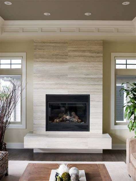 limestone tile fireplace ideas pictures remodel  decor