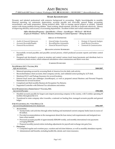 staff accountant resume sles exles of resumes best resume exle 2017 with regard