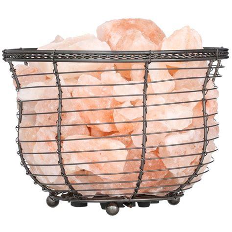 himalayan natural salt basket l wbm himalayan 6 75 in ionic crystal natural salt 9 11 lbs