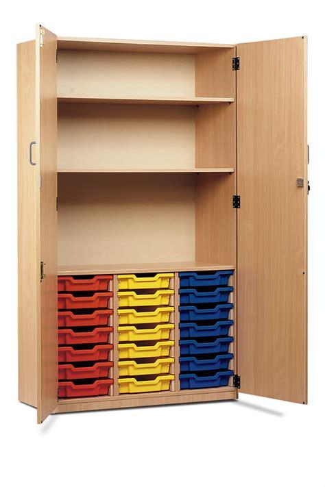 21 Shallow Tray Storage Cupboard School Storage Cupboards