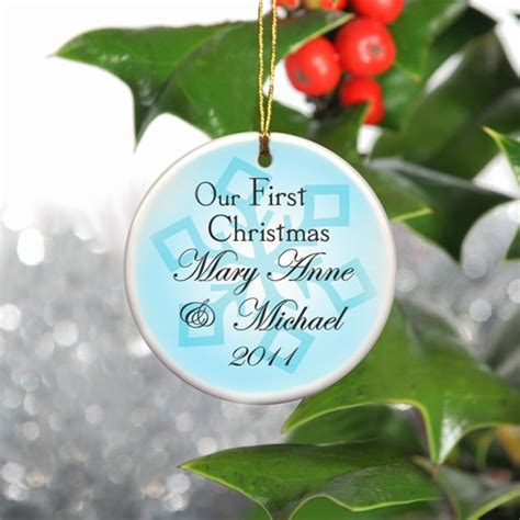 our 1st christmas ornament personalized couples gifts