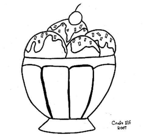 free ice cream sundae coloring page fun kids activity