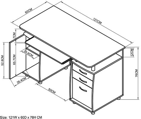 desk sizes computer desk dimensions inches hostgarcia