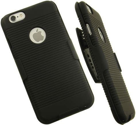 Hardcase Dove Black For Iphone6 black rubberized belt clip holster w stand for apple iphone 6 plus ebay