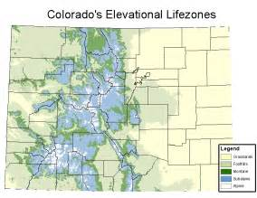 colorado mountain ranges map subalpine zone general information